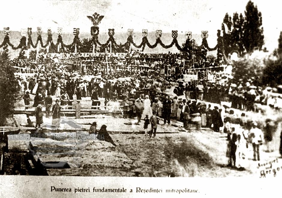 .Cernauti 1862.Punerea pietrei fundamentale, a Resedintei Mitropolitane1862